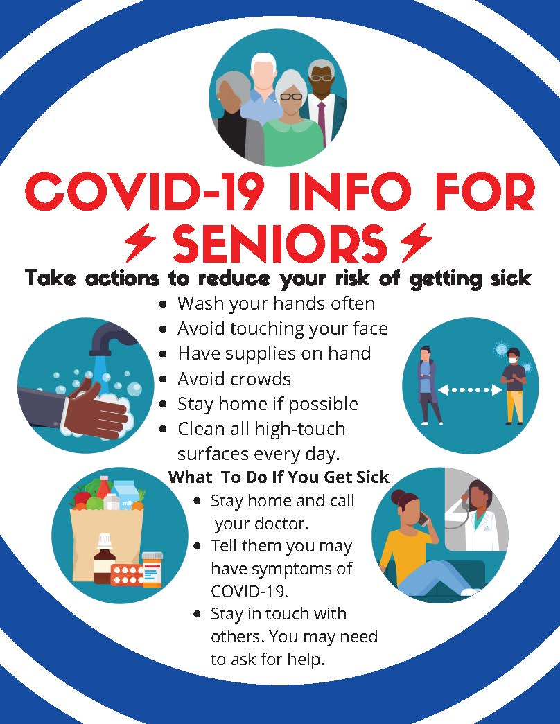 COVID-19 Info for Seniors Handout