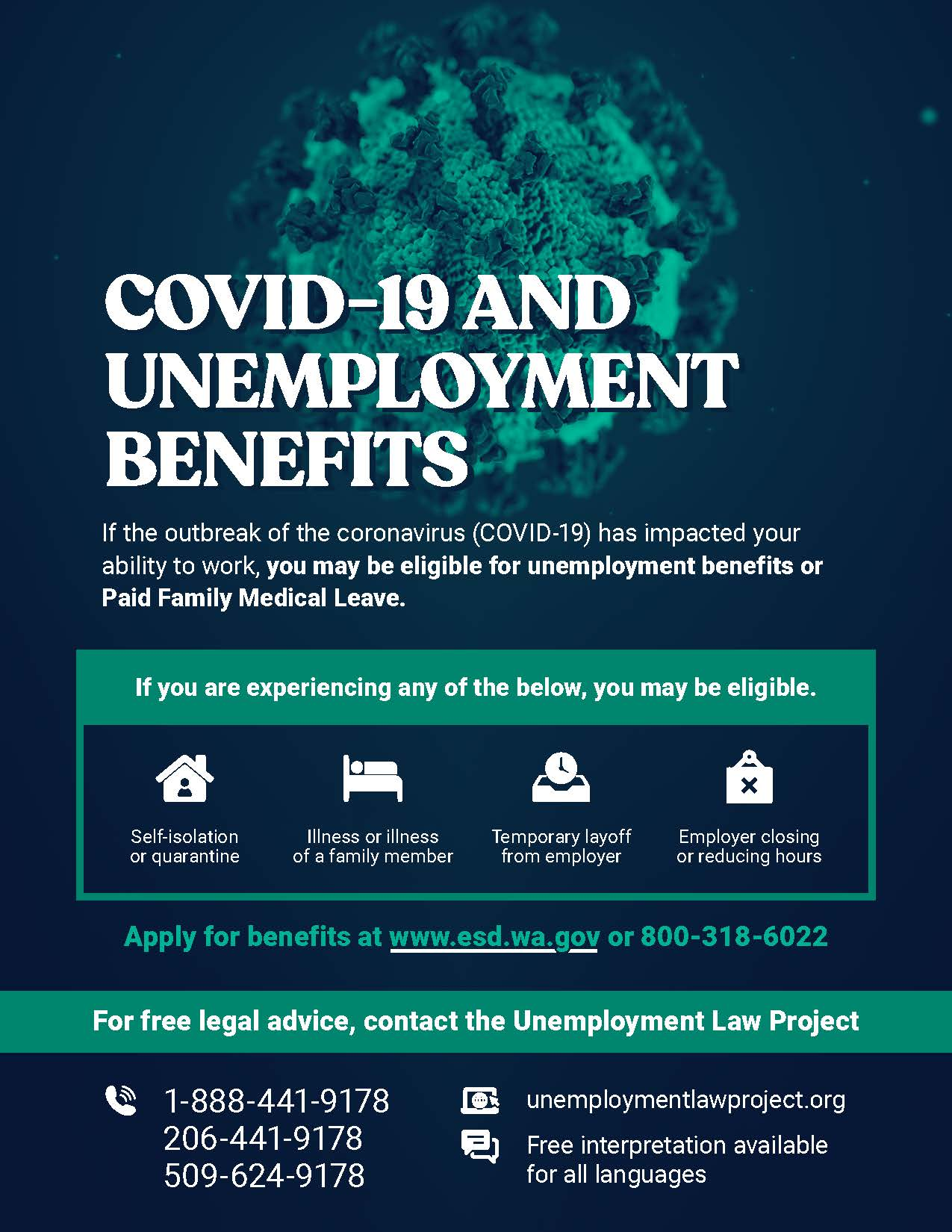 COVID-19 Unemployement Benefits Flyer